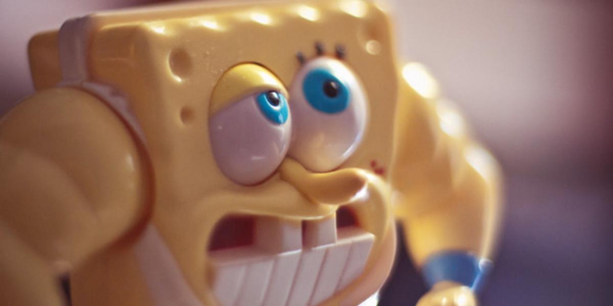 Plastik-Spongebob als Spielzeug