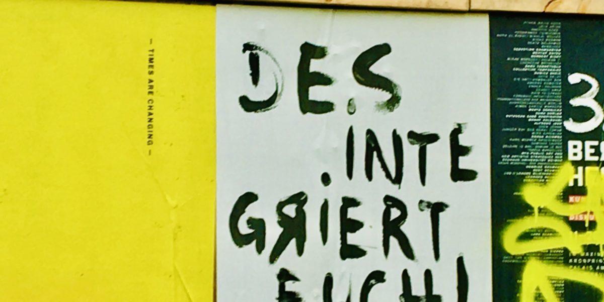 Poster im Mauerpark in Berlin